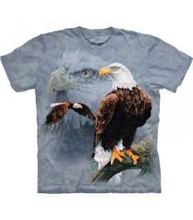 Eagle Collage - Birds T Shirt by the Mountain