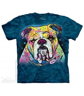 Colorful Bulldog - Lifestyle T Shirt The Mountain
