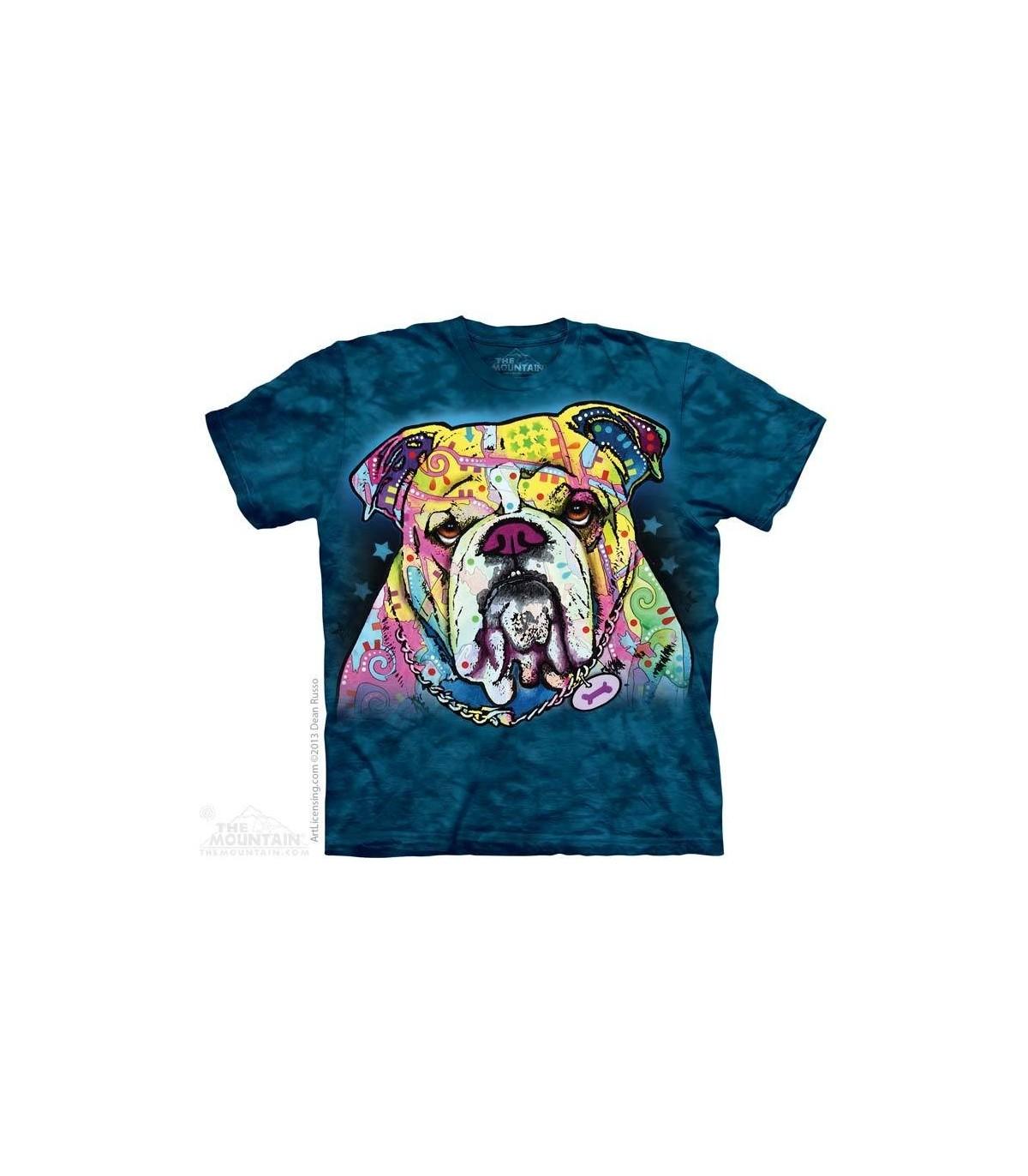 Mountain Erwachsen Colorful Bulldog Lifestyle T Shirt
