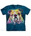 Bouledogue Coloré - T-shirt Chien The Mountain