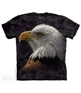 Portrait d'un Aigle - T-shirt Oiseau The Mountain