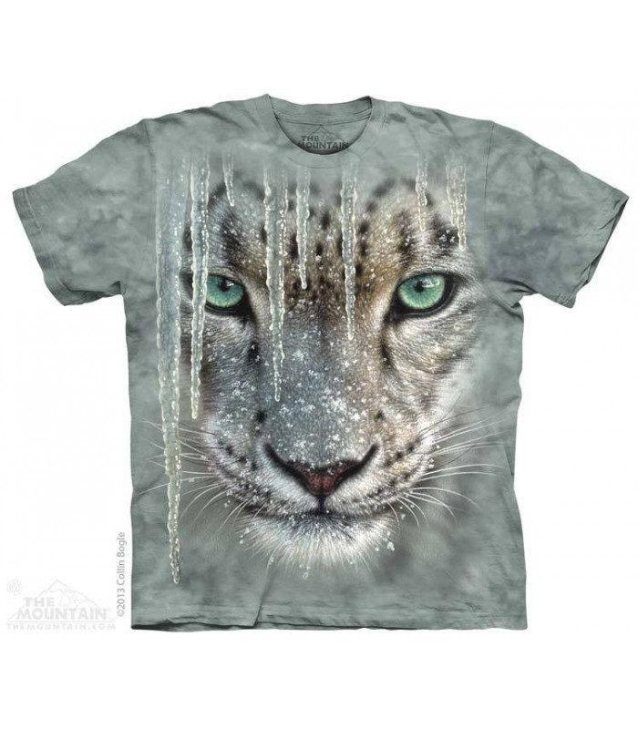 Icicle Snow Leopard - Big Cat T Shirt The Mountain