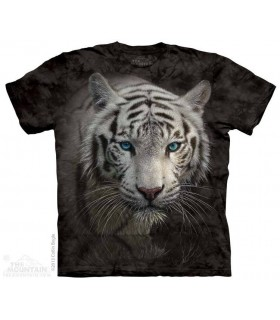White Tiger Reflection - Big Cat T Shirt The Mountain
