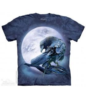 Corbeau sous la Lune - T-shirt Oiseau The Mountain