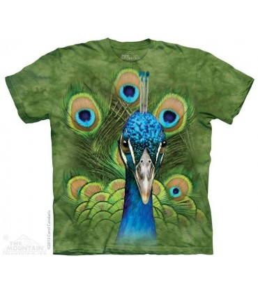 Vibrant Peacock - Bird T Shirt The Mountain