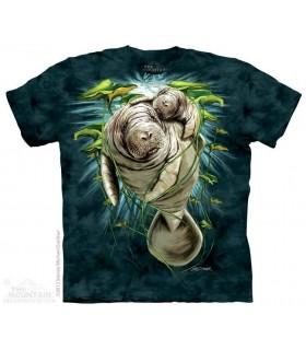 Maman Lamantin et Bébé - T-shirt marin The Mountain