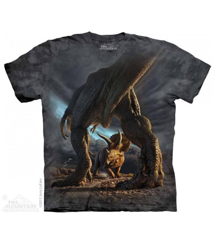 Dino Battle - Dinosaur T Shirt The Mountain