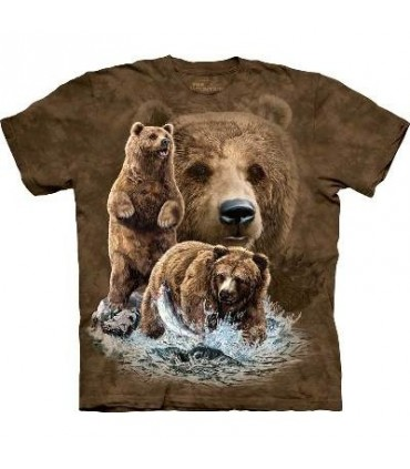 Find 10 Brown Bears - Bear T Shirt by the Mountain