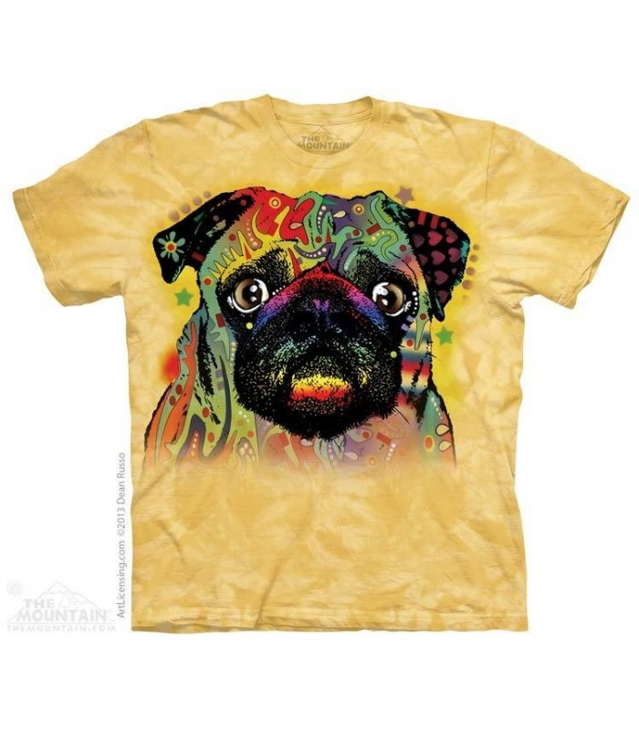 Colorful Pug - Dog T Shirt The Mountain