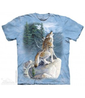 Heart Song - Wolf T Shirt The Mountain