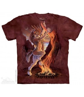 Feu Sacré - T-shirt Loup The Mountain