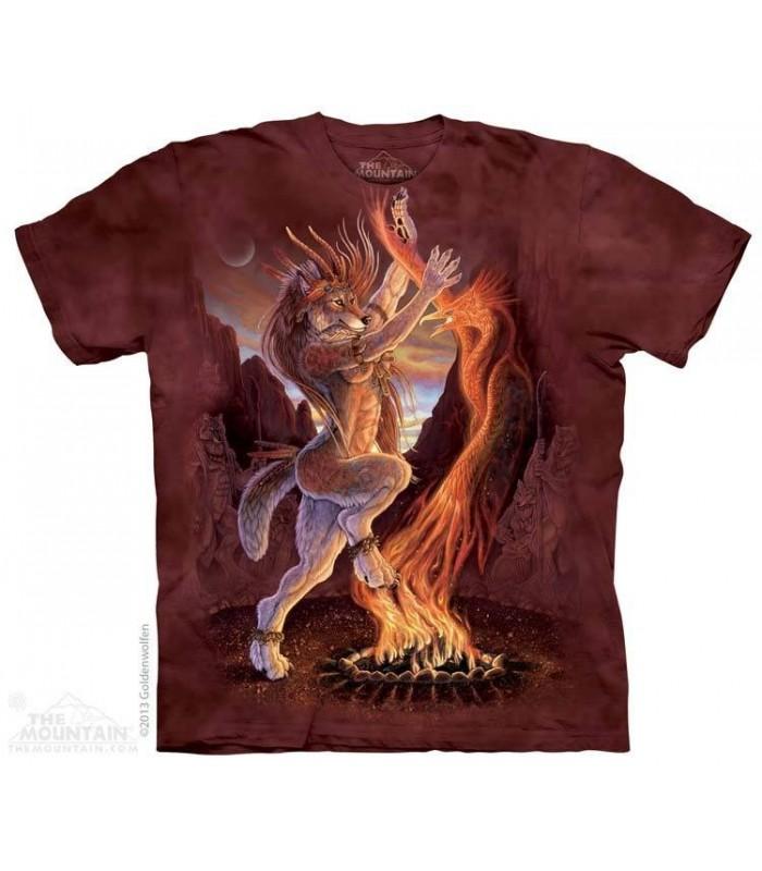 Feu Sacré - T-shirt Loup The Mountain