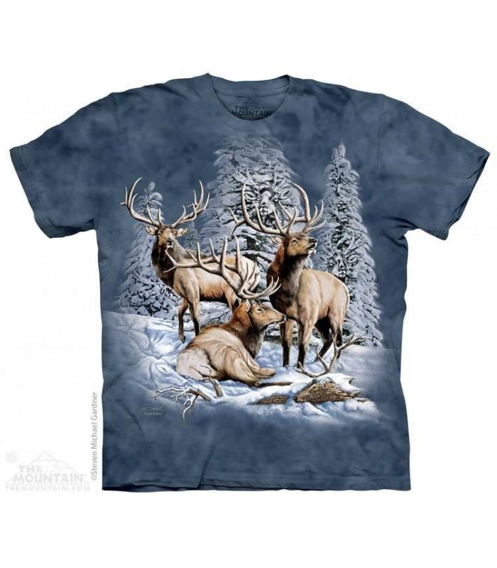 Trouver 8 Élans - T-shirt Images Cachées The Mountain