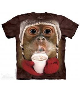 Orang-Outan et son Chocolat Chaud - T-shirt Singe The Mountain