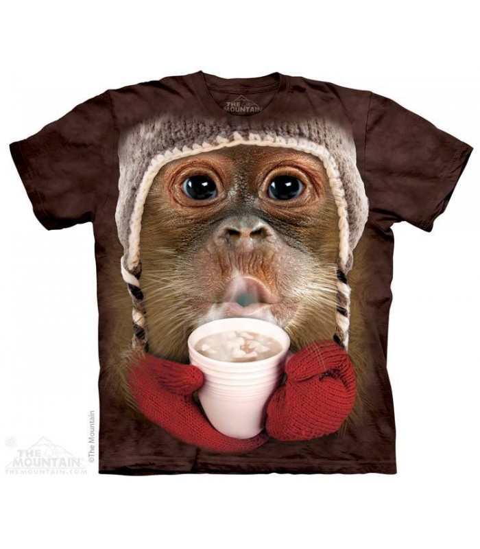 Hot Cocoa Orangutan - Primate T Shirt The Mountain