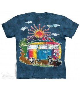 Bus Tour Batik - T-shirt The Mountain