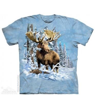 Trouver 7 Élans - T-shirt Images Cachées The Mountain