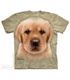T-shirt Tête de Chiot Labrador Jaune The Mountain