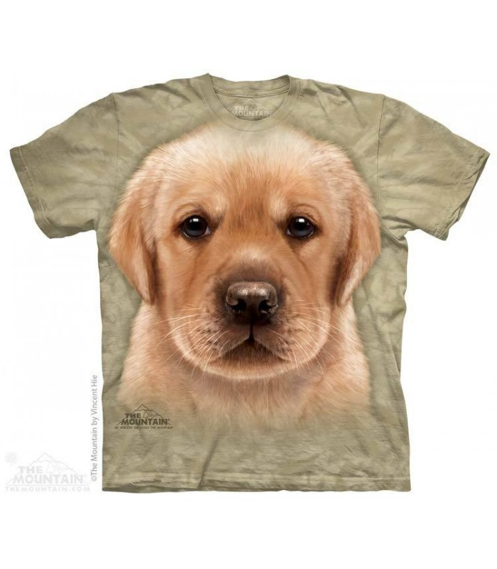 Yellow Lab Puppy - Dog T Shirt The Mountain