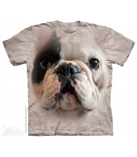 Tête de Bouledogue Français - T-shirt Chien The Mountain
