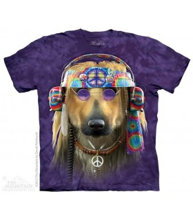 T-shirt Chien Hippie The Mountain