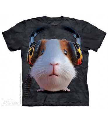 DJ Guinea Pig - Big Face Pets T Shirt by the Mountain