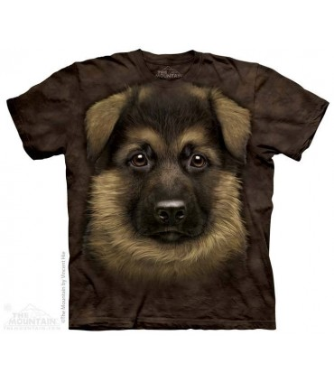 German Shepherd Puppy - Dog T Shirt The Mountain