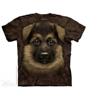German Shepherd Puppy - Dog T Shirt The Mountain