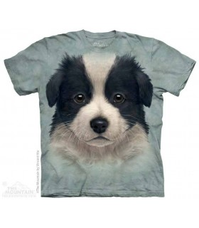 Border Collie Puppy - Dog T Shirt The Mountain