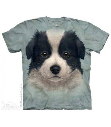 T-shirt Chiot Border Collie - T-shirt Chien The Mountain