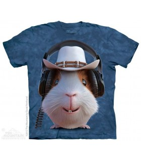 Guinea Pig Cowboy - Pet T Shirt The Mountain