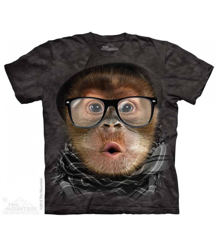 Hipster Orangutan baby - Primate T Shirt The Mountain