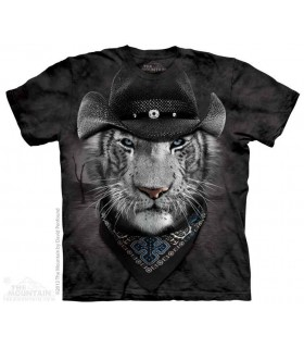 Cowboy White Tiger - Manimals T Shirt The Mountain