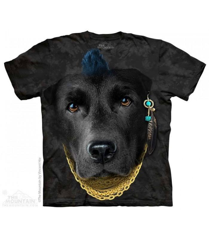 Bad Attitude Black Lab - Dog T Shirt The Mountain
