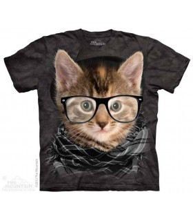 Hipster Kitten - Cat T Shirt The Mountain