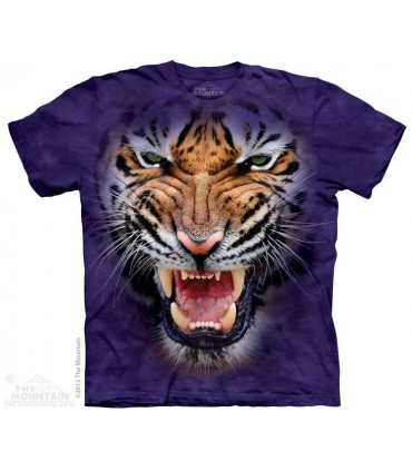 Growling Big Face Tiger - Big Cat T Shirt The Mountain