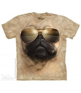 Aviator Pug - Dog T Shirt The Mountain