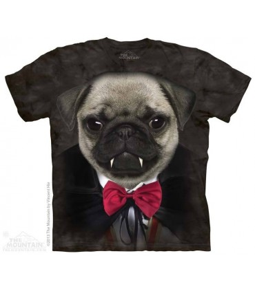Vampire Pug - Dog T Shirt The Mountain