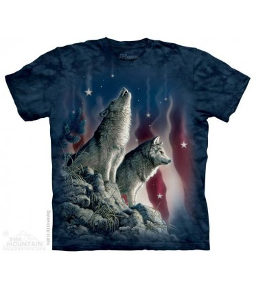 Etoiles Tombantes - T-shirt Patriotique The Mountain