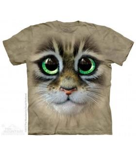 Big Eyes Kitten Face - Cat T Shirt The Mountain