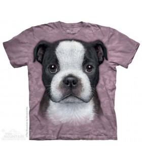 Boston Terrier Puppy - Dog T Shirt The Mountain