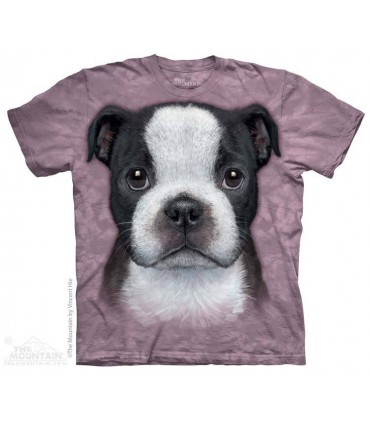 Boston Terrier Puppy - Dog T Shirt The Mountain