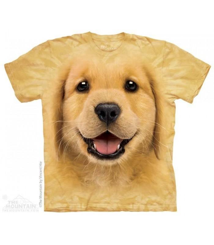 Golden Retriever Puppy - Dog T Shirt The Mountain