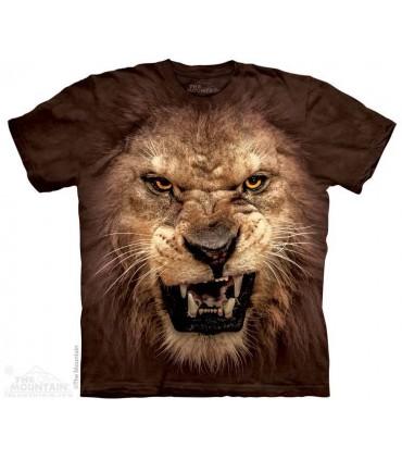 Big Face Roaring Lion - Big Cat T Shirt T Shirt The Mountain