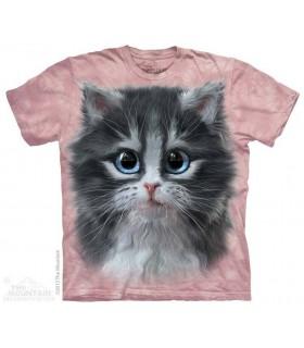 Mignon Chaton en Rose - T-shirt Chat The Mountain
