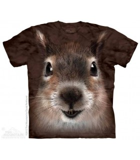 Squirrel Face - Animal T Shirt The Mountain