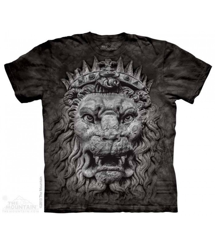 Big Face King Lion - Big Cat T Shirt The Mountain