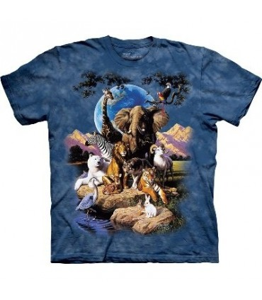 T-Shirt Le Monde Des Animaux par The Mountain
