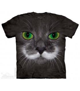 Big Face Hamilton the Hipster Cat - Pet T Shirt The Mountain