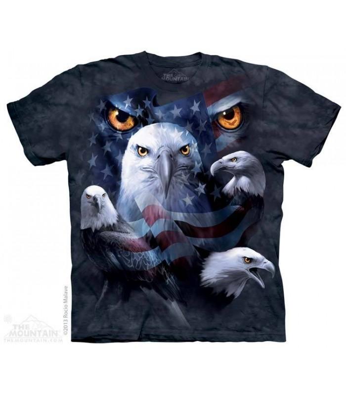 Yeux d'Aigles Patriotiques - T-shirt Aigle The Mountain